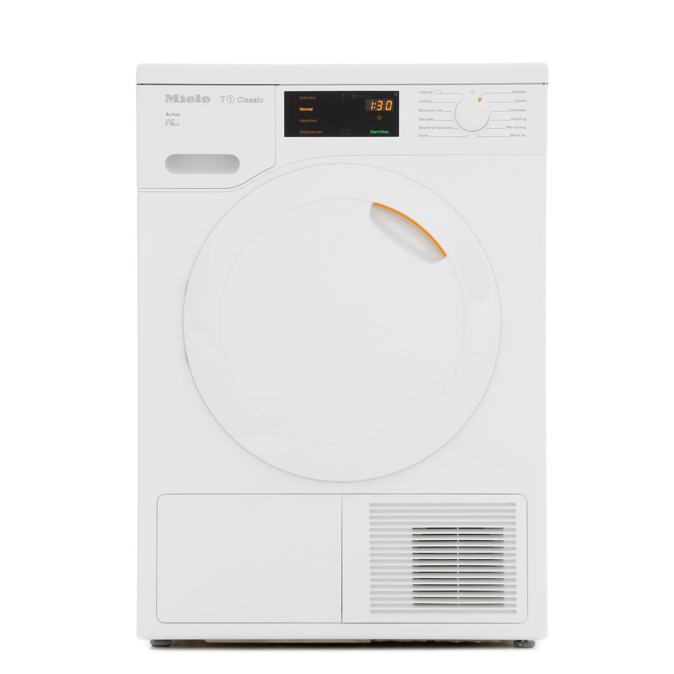 buy miele t1 classic tdb220 white condenser dryer with heat pump technology tdb220white. Black Bedroom Furniture Sets. Home Design Ideas