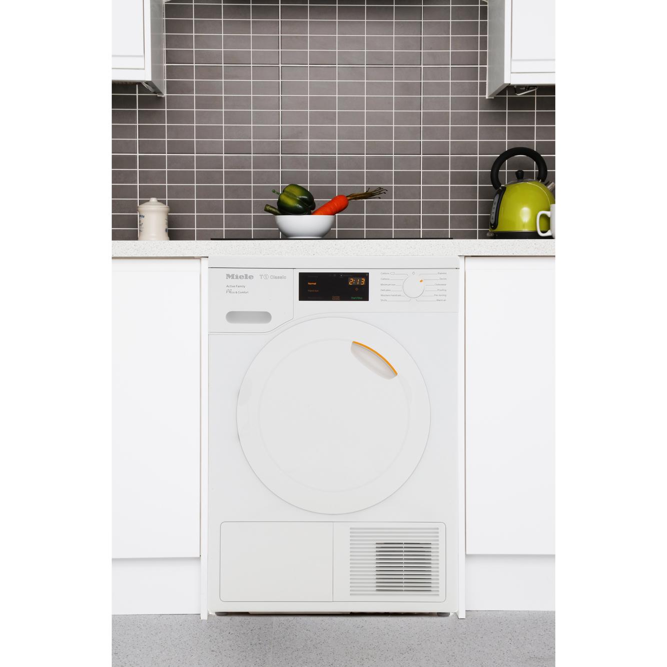 buy miele t1 classic tdd220 white condenser dryer with heat pump technology tdd220white. Black Bedroom Furniture Sets. Home Design Ideas