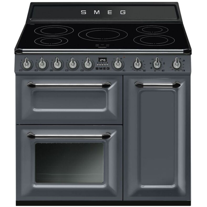 Smeg Victoria TR93IGR Slate Grey 90cm Electric Induction Range Cooker