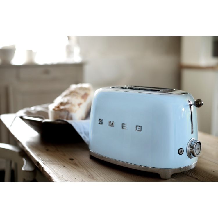 buy smeg tsf01pbuk 50 39 s retro style 2 slice toaster tsf01pbuk pastel blue marks electrical. Black Bedroom Furniture Sets. Home Design Ideas