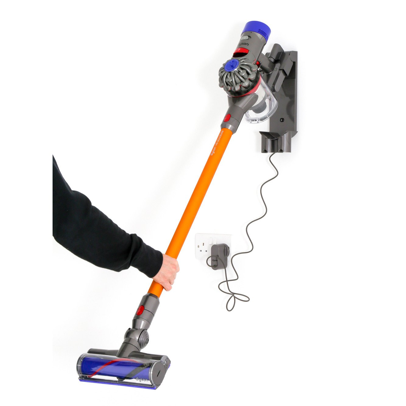 buy dyson v8 absolute hand held vacuum cleaner v8absolute nickel yellow marks electrical. Black Bedroom Furniture Sets. Home Design Ideas