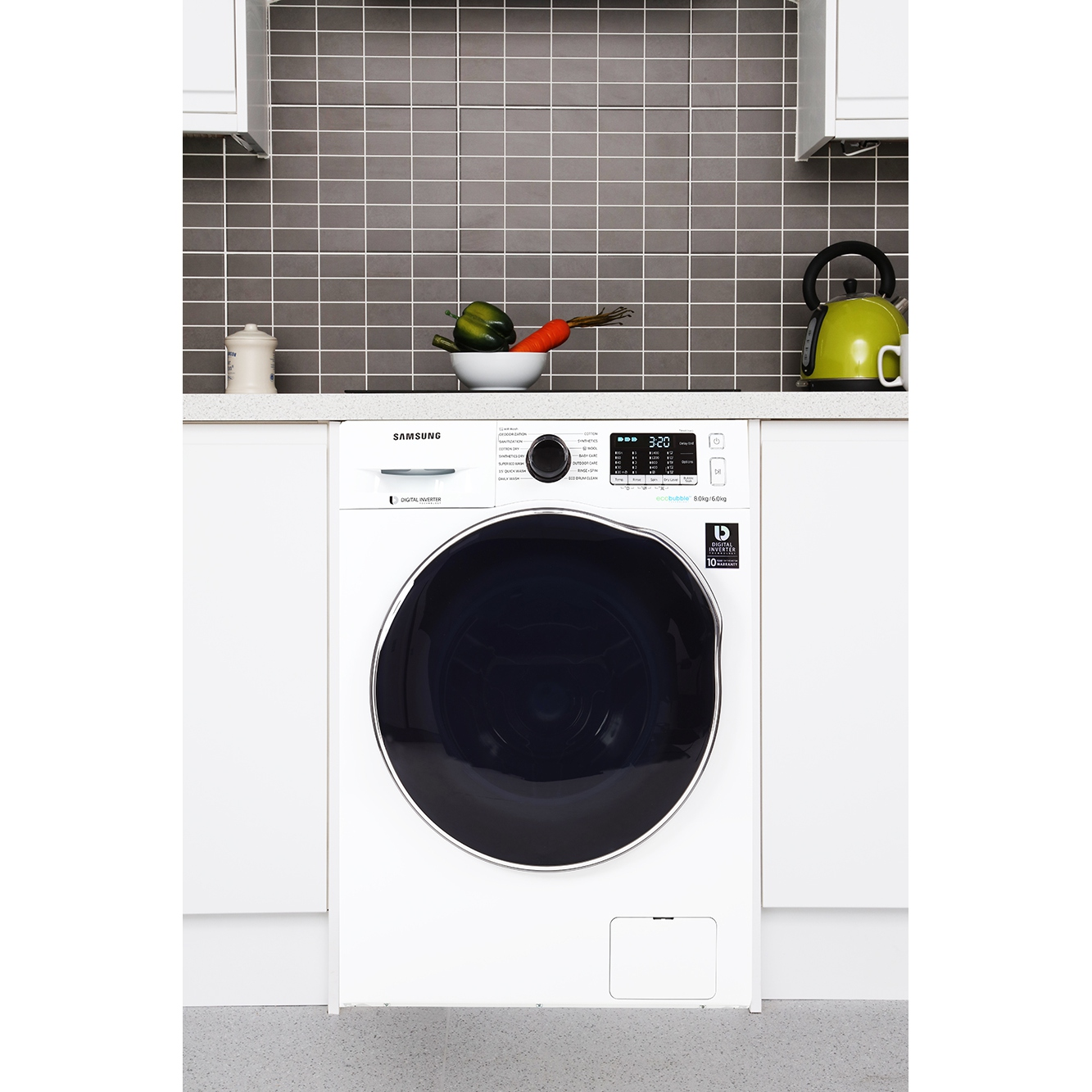 Buy Samsung Wd80j5410aw Washer Dryer White Marks