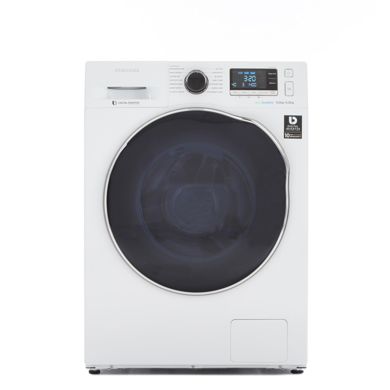 Buy Samsung Wd90j6410aw Washer Dryer White With Crystal