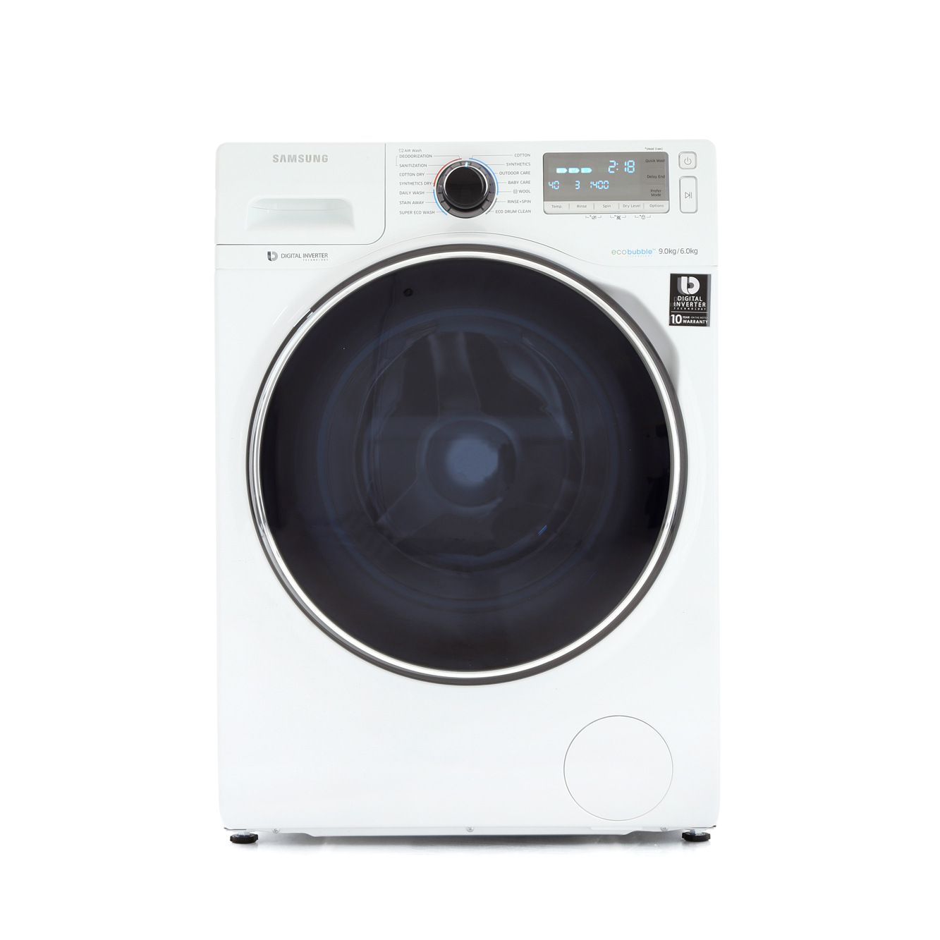 Buy Samsung Wd90j7400gw Washer Dryer White With Crystal