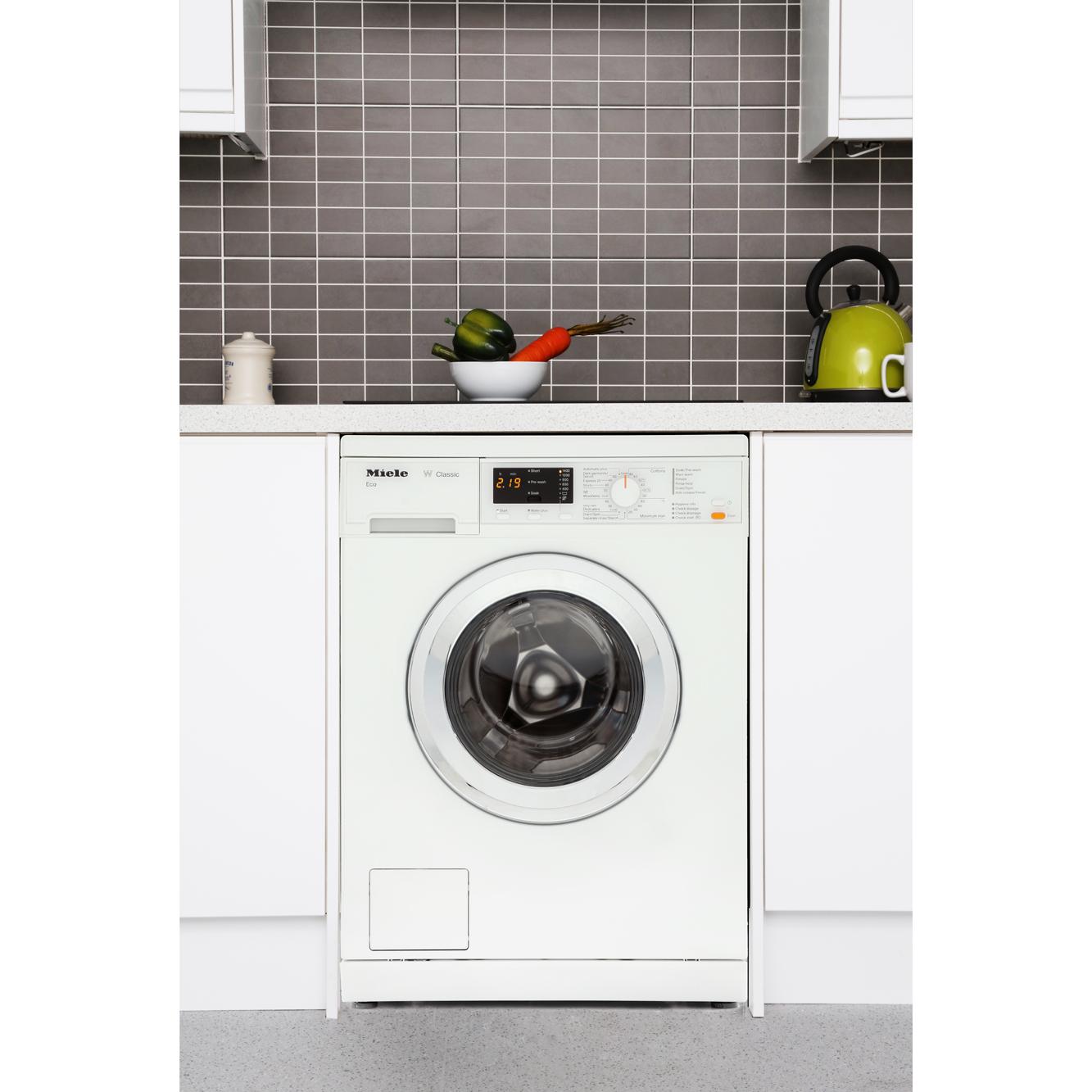 Buy Miele WDA101 Washing Machine - Lotus White with Chrome ...