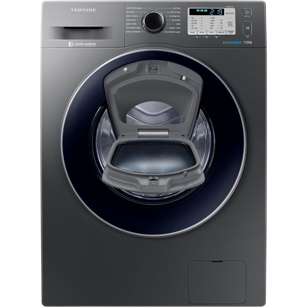 buy samsung addwash ww70k5413ux washing machine ww70k5413ux inox with crystal blue door. Black Bedroom Furniture Sets. Home Design Ideas