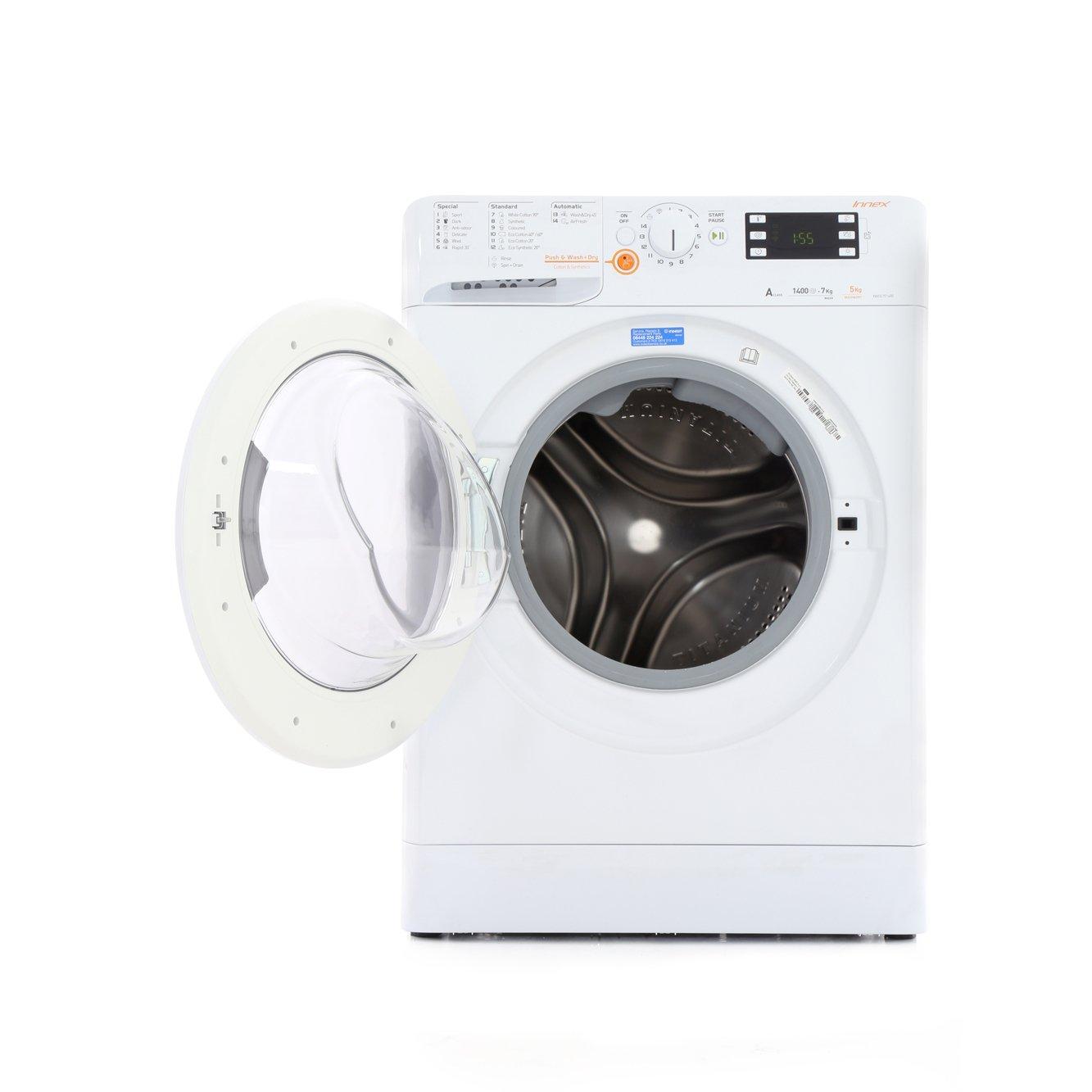 buy indesit xwde751480xw washer dryer white marks. Black Bedroom Furniture Sets. Home Design Ideas