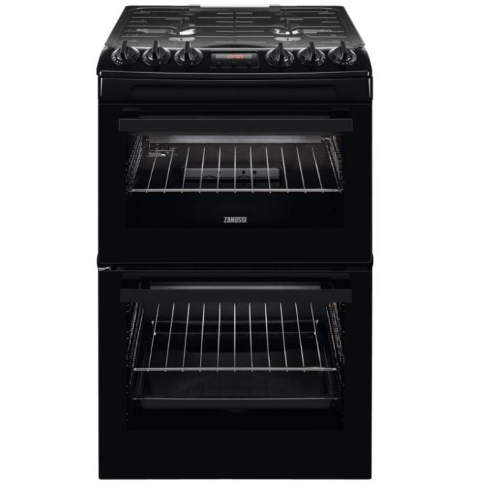 Zanussi ZCG43250BA Gas Cooker with Double Oven