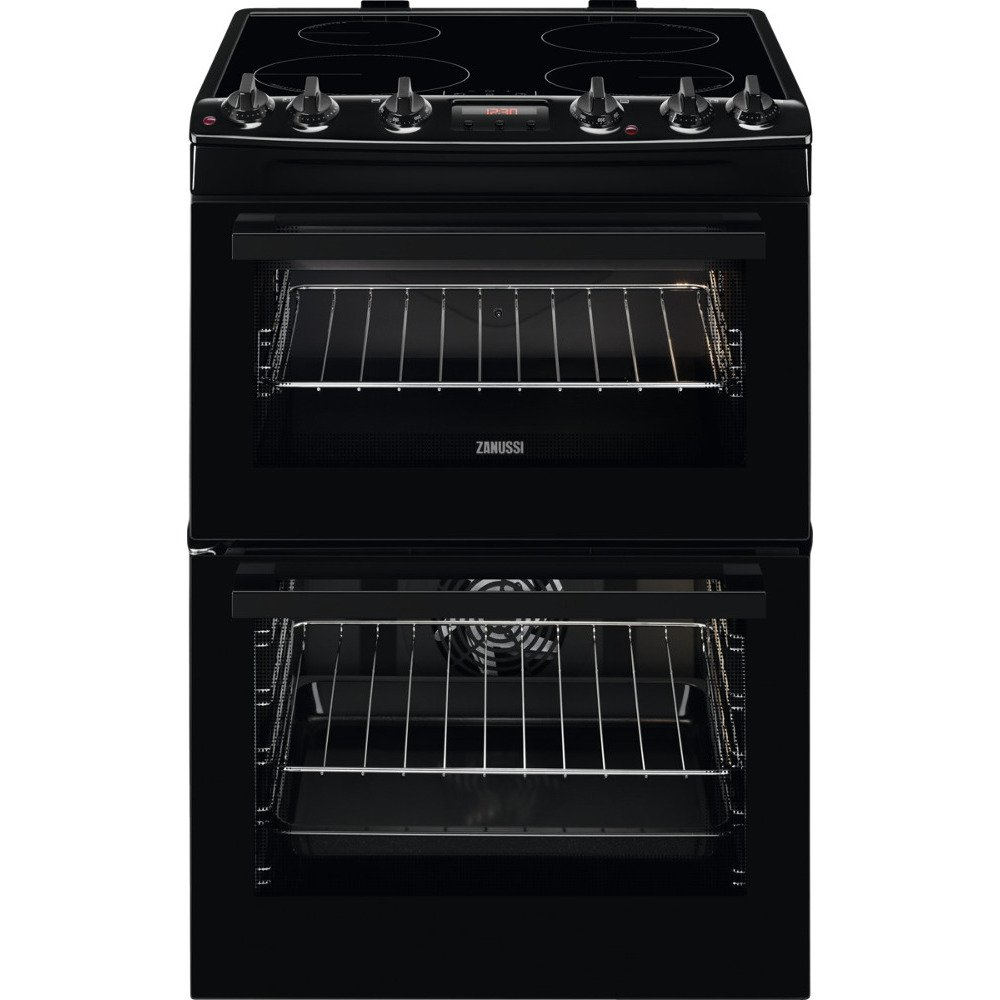 Zanussi ZCI66250BA Induction Electric Cooker with Double Oven