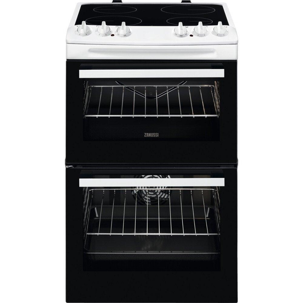 Zanussi ZCV46050WA Ceramic Electric Cooker with Double Oven