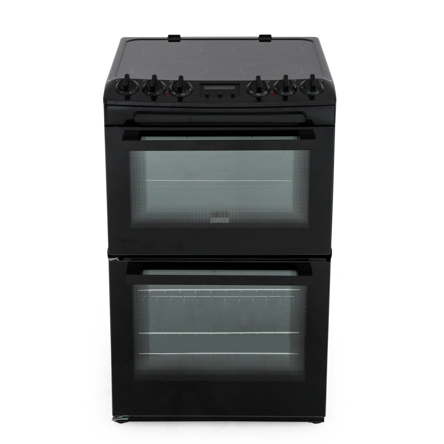Zanussi ZCV46250BA Ceramic Electric Cooker with Double Oven