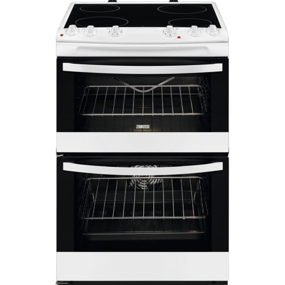 Zanussi ZCV66078WA Ceramic Electric Cooker with Double Oven