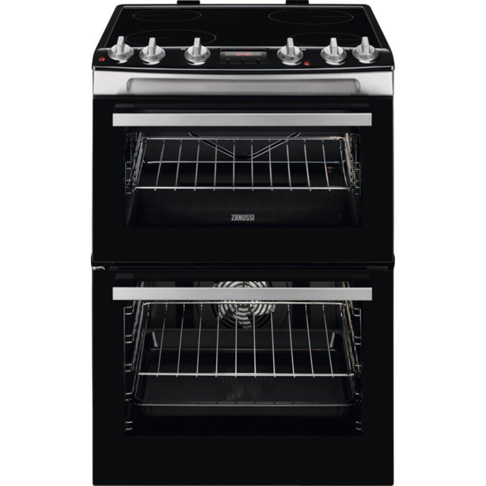 Zanussi ZCV66078XA Ceramic Electric Cooker with Double Oven