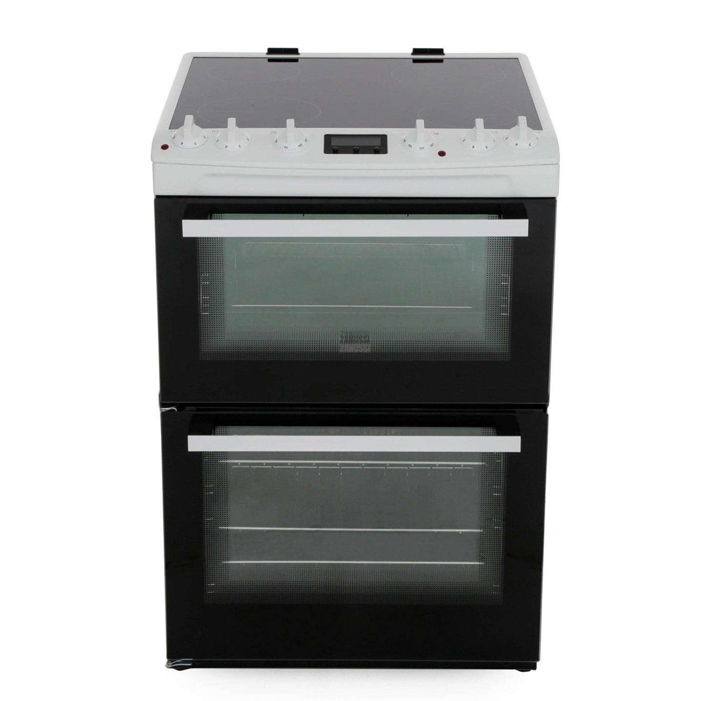 Zanussi ZCV66370WA Ceramic Electric Cooker with Double Oven