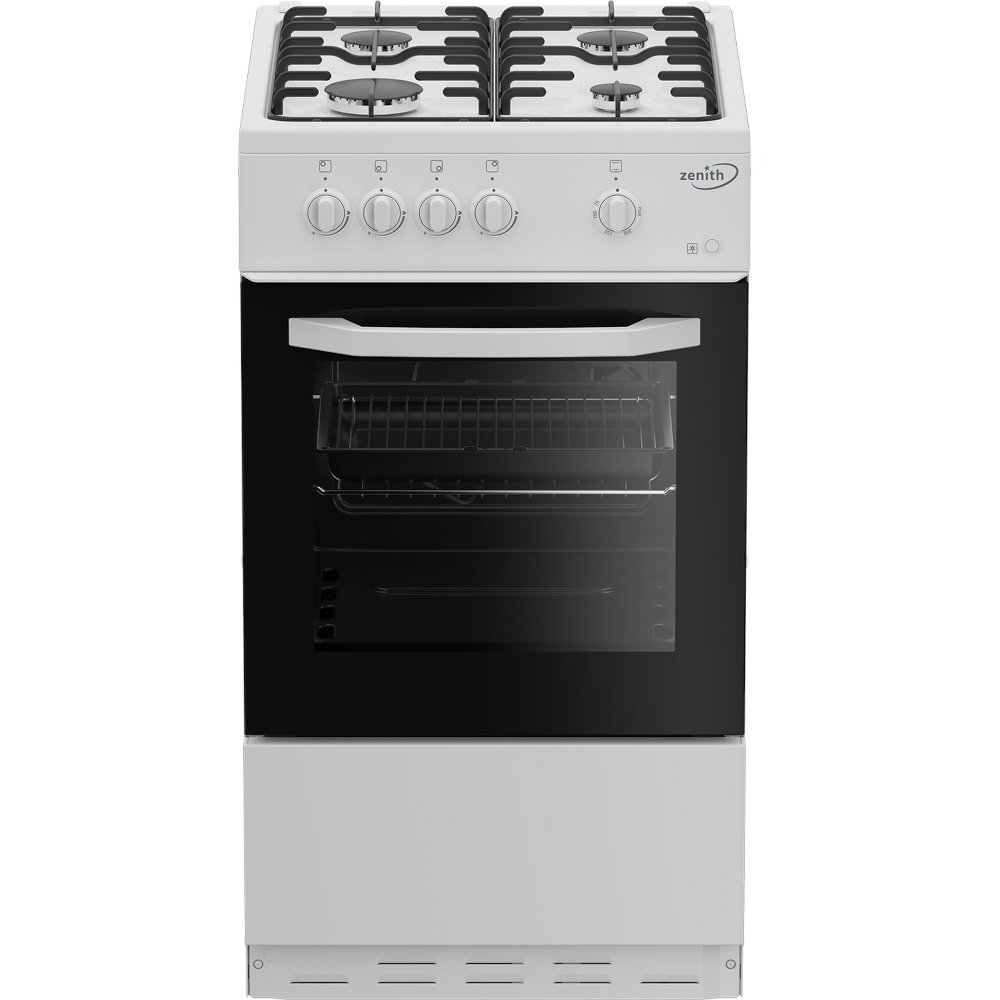 Zenith ZE501W Gas Cooker with Single Oven