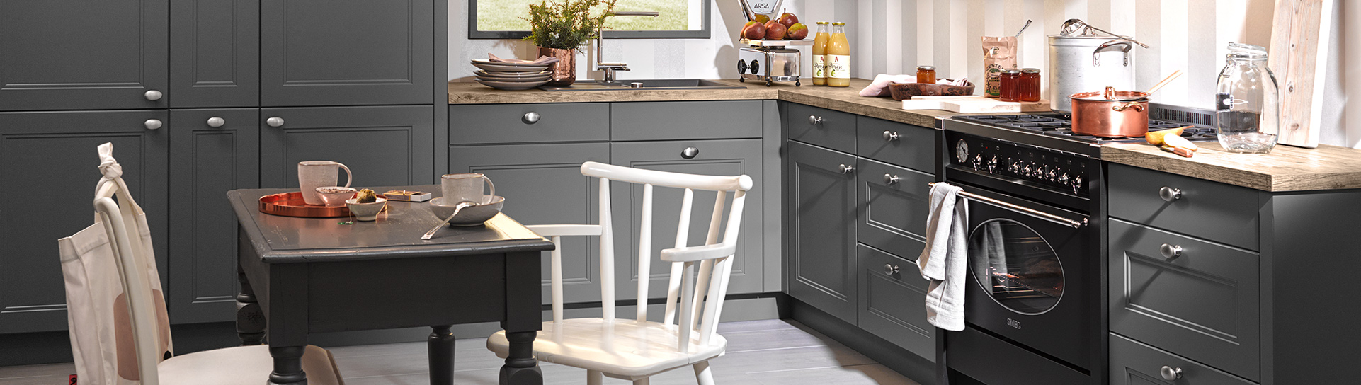 Country Windsor Lack Quartz Grey from Nolte