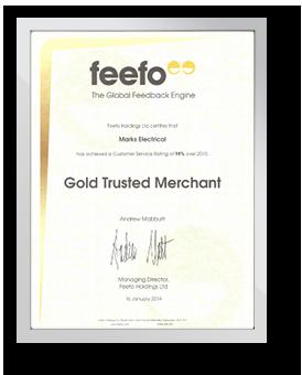 Feefo Gold Trusted Merchant - 2014