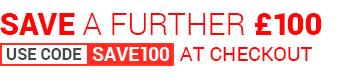 Use code SAVE100 at checkout