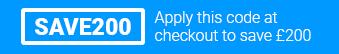 Use code SAVE200 at checkout