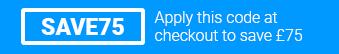 Use code SAVE75 at checkout