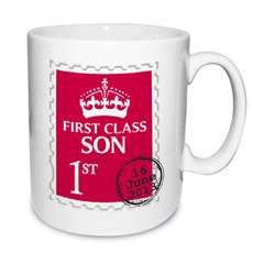 Personalised 1st Class Mug - Red
