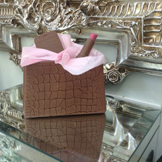 Mock Croc Chocolate Handbag