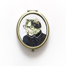 Cat Dress Up Compact Mirror