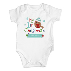 Personalised My First Christmas Baby Vest