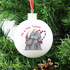 Personalised Me To You Couples Christmas Bauble