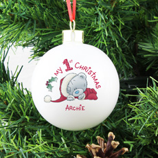 Personalised Me To You - My 1st Christmas Bauble