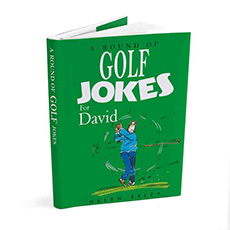 Personalised Golf Joke Book