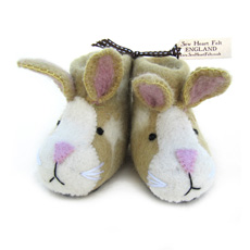 Sew Heart Felt Baby Slippers - Rory Rabbit