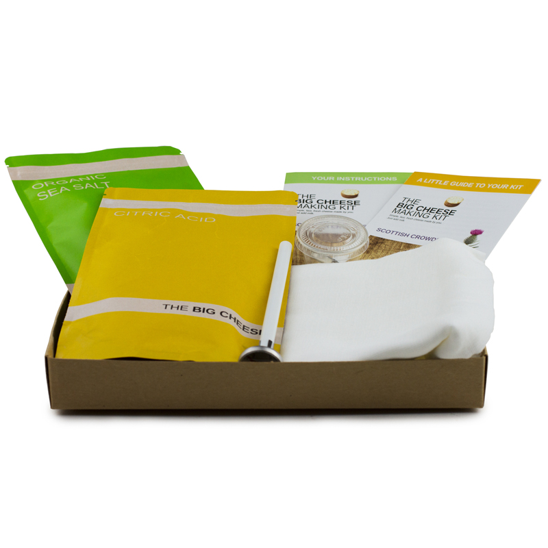 house warming gift scottish crowdie cheese kit buy from prezzybox 12796