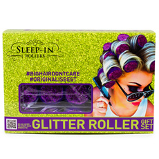 Sleep In Rollers - Purple Glitter Gift Set