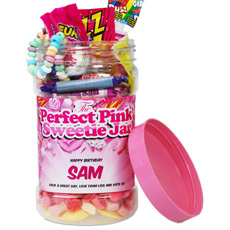 Personalised Perfect Pink Sweetie Jar