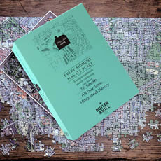 Personalised Postcode Jigsaw - 400 Pieces - Aerial