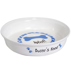 Personalised Dog Bowl - Blue