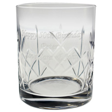 Personalised Crystal Whisky Tumbler