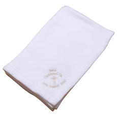 Personalised Christening Cross Blanket