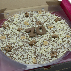 70th Birthday Chocolate Pizza - 10""