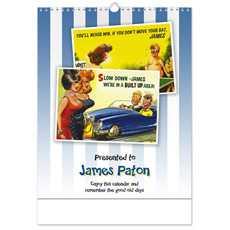 Personalised Saucy Postcard Calendar - For Him