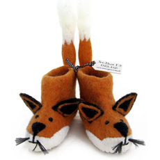 Sew Heart Felt Baby Slippers - Finlay Fox