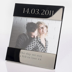 Personalised Silver Photo Frame - Special Date