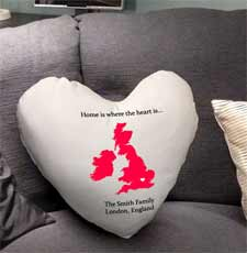 Personalised Home is where the Heart is Cushion