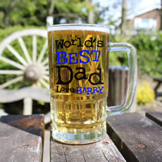 Personalised World's Best Dad Pint Glass