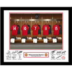 Personalised Man Utd Dressing Room Photo
