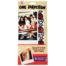 One Direction Glitter Tattoos