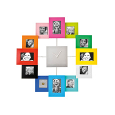 Family Time Photo Frame and Clock - Multicoloured