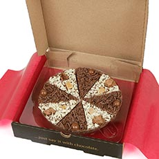 Double Delight Chocolate Pizza 7 ""