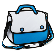 3D Cartoon Satchel - Blue